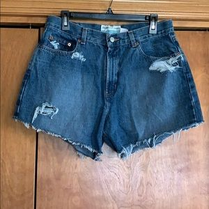 Old Navy Distressed Cut Off Denim Shorts Size 12